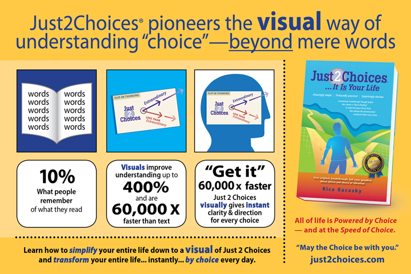 Just 2 Choices Infographic